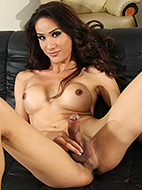 Tina is a cock tease. Hot Tina shows her huge tool